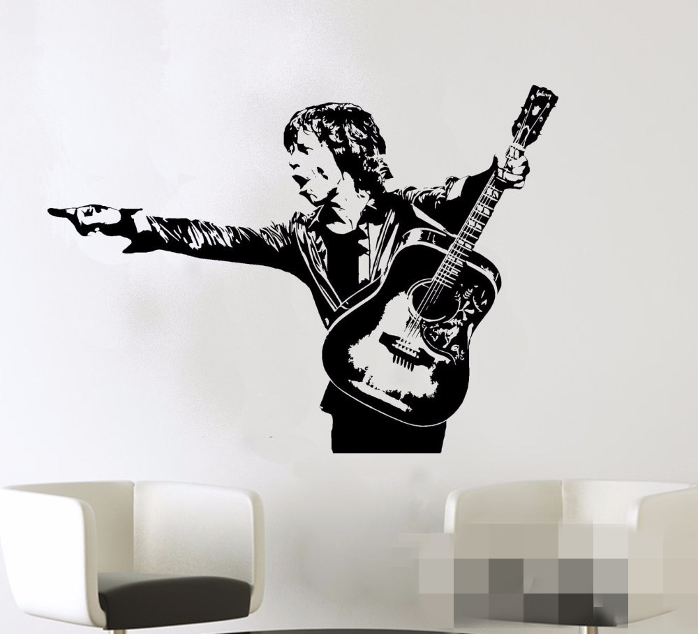 New arrival Mick Jagger <font><b>Wall</b></font> Decal Rock Roll Music Artist Vinyl <font><b>Sticker</b></font> Home Room Interior Decoration <font><b>Retro</b></font> Art Mural image