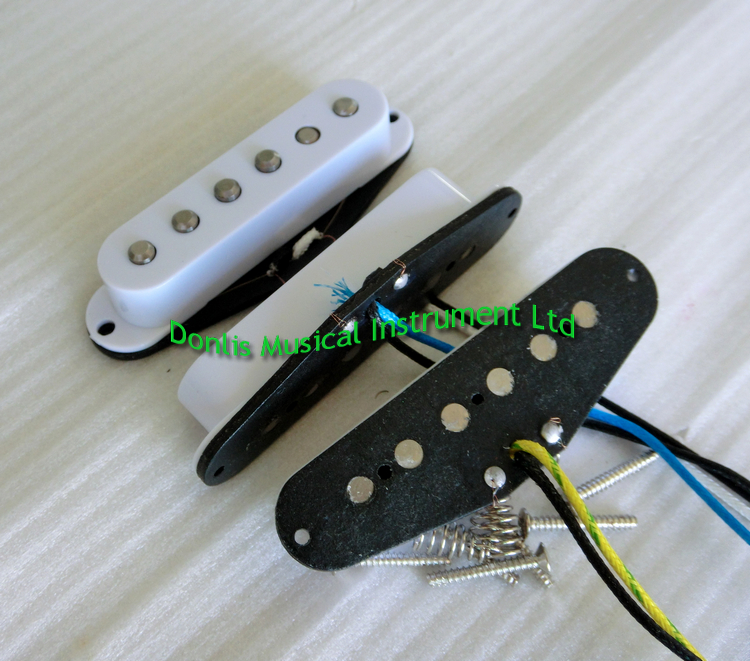 Donlis Высокая выходная винтажная 60 стиль Alnico V rod шахматный SSS одна катушка звукосниматель для ST гитары звукосниматели prewired