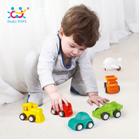 6PCS Lot HUILE TOYS 3117 Baby Toys Great Pull Back Car Candy Color Wheels Mini Car