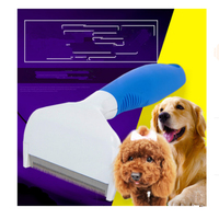 Le Chat Peigne Cheveux Peigne Brosse Chat Toilettage Outil Inoxydable Amovible Chien Chat Brosse