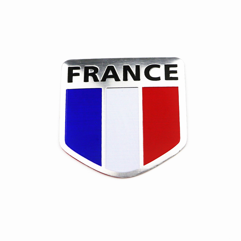 Car Styling 3D France Flag Emblem Badge Car Sticker Decals Accessories For Peugeot Citroen Renault Opel Seat DS Car-Styling