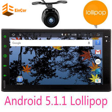 Quad core 2 din android 5.1.1 2din universal Car autoRadio Double din Car no DVD GPS Navigation map In dash Car PC Stereo video