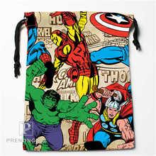 Custom Marvel Cartoon Drawstring Bags Printing Fashion Travel Storage Mini Pouch Swim Hiking Toy Bag Size 18x22cm #171208-15