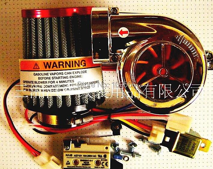 Hot selling DIY Turbo-500 Turbo kit motorcycle parts Electronic turbocharger MINI car Electric turbine supercharger - Jeff internet store