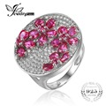 JewelryPalace 3.32ct Pigeon Blood Red Created Ruby Ring For Women 925 Sterling Silver Vintage Charm Wedding Gift New Jewelry