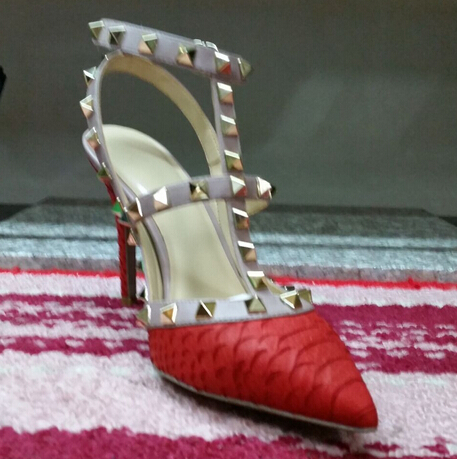 Best Selling Size 34 40 7 Colours High Heel Pumps Sexy Crocodile Skin Genuine Leather Shoes