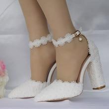 купить Women's Ladies Crystal Wedding Pointed Toe Square Sandals Shoes High Heel Shoes summer sandals women sandals high heels по цене 1156.25 рублей