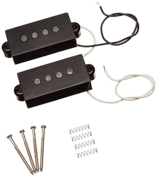 1set 4 String Noiseless Pickup Black for Precision Bass Replacement