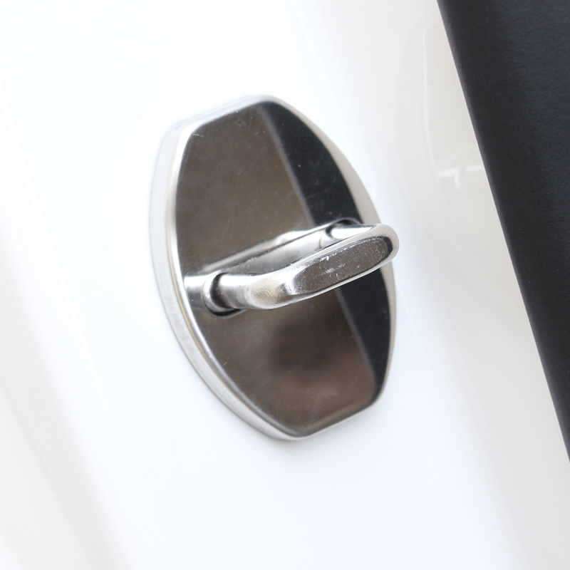 Stainless Steel Car Covers Door Lock Cover Case For Seat