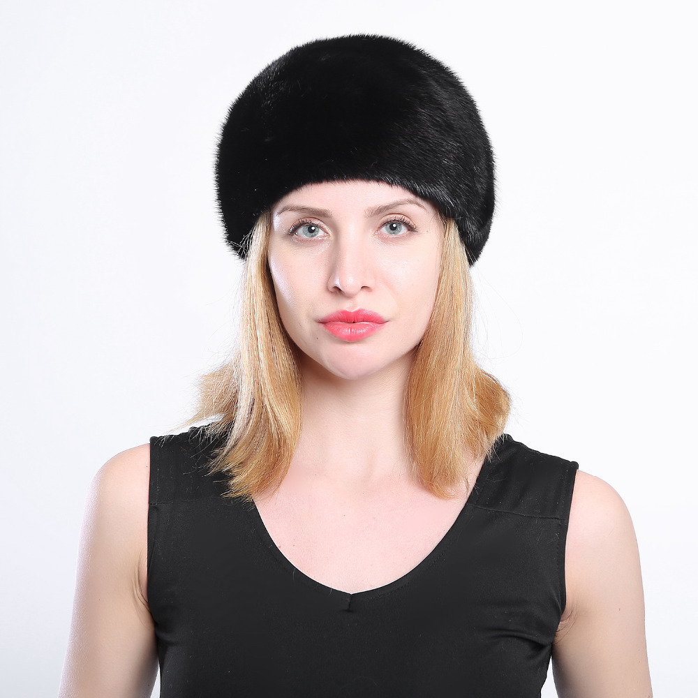 Fur hats for winter women whole real mink fur hat with diamond floral pattern  luxury fashion women fur berets good quality real mink fur hat for women winter full fur hat with flower top 2016 new arrival good quality multicolor female luxury mink cap