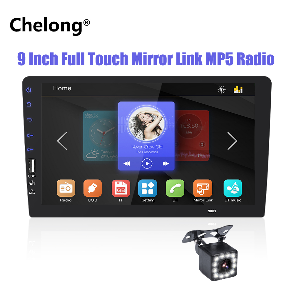 2 DIN Car Radio 9 Full touch mirror link Car Stereo Player Car Multimedia Player MP5 Bluetooth USB Auto-radio Car Rear Camera2 DIN Car Radio 9 Full touch mirror link Car Stereo Player Car Multimedia Player MP5 Bluetooth USB Auto-radio Car Rear Camera
