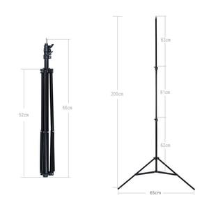 Image 3 - Godox Ajustable 302 2m 200cm Light Stand with 1/4 Screw Head Tripod for Studio Photo Vedio Flash Lighting