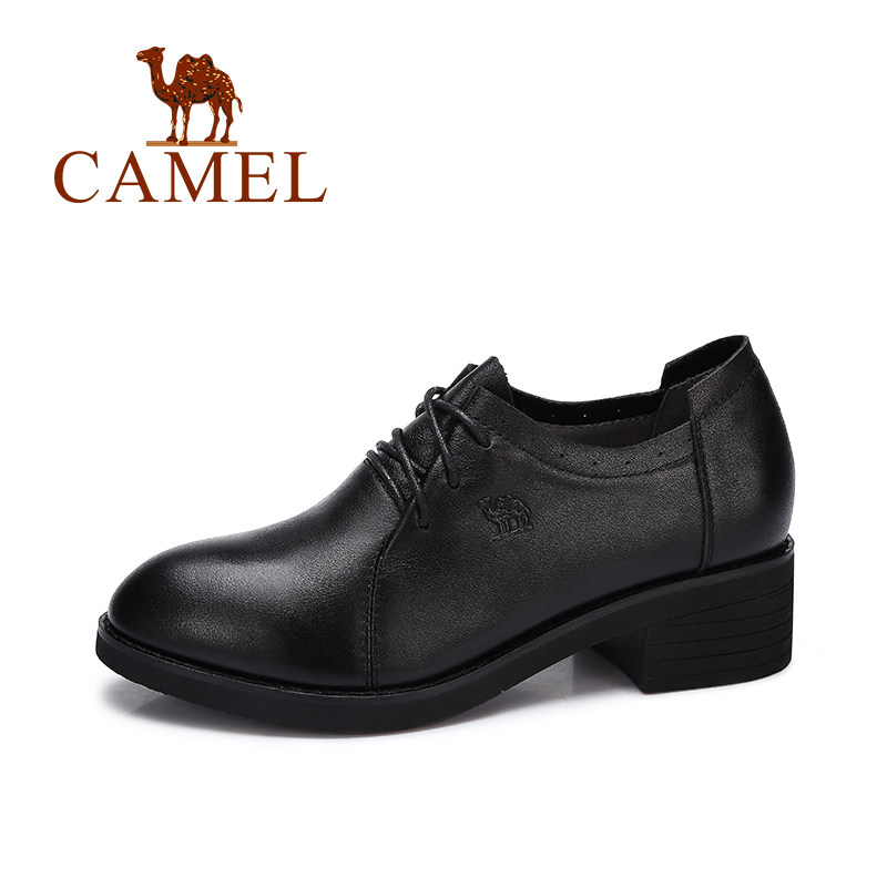 CAMEL Autumn New Ladies Pumps Casual Fashion Women British Retro Genuine Leather Shoes Low Heels Woman Round Head Lace Shoes блуза apart блузы в стиле кэжуал