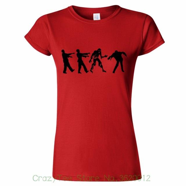 094e51531 Women S Tee Zombie Apocalypse Womens T Shirt Halloween Trick Treat Costume  Party Fancy Female T