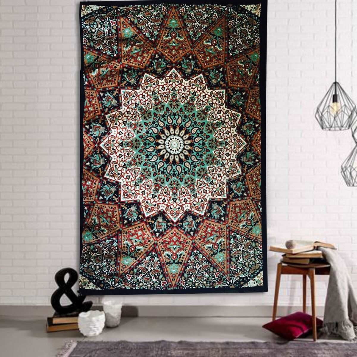 ᗐbohemian Style Wall Hanging Tapestry ჱ 210x145cm Indian
