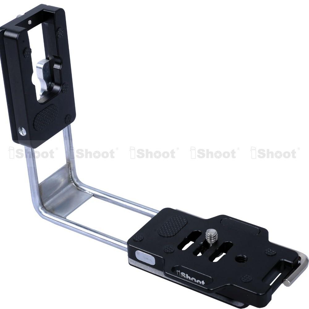 Adjustable L-Shaped Vertical Quick Release Plate Camera Bracket Holder Grip for Olympus E-1 E-3 E-5 E-10 E-30 E-50 Arca Ballhead