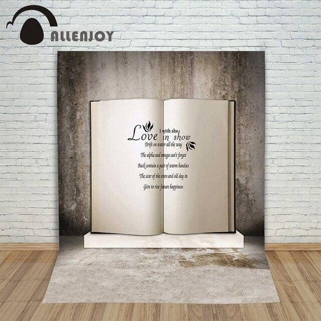 Allenjoy Photographic Background Vintage Valentine White Book