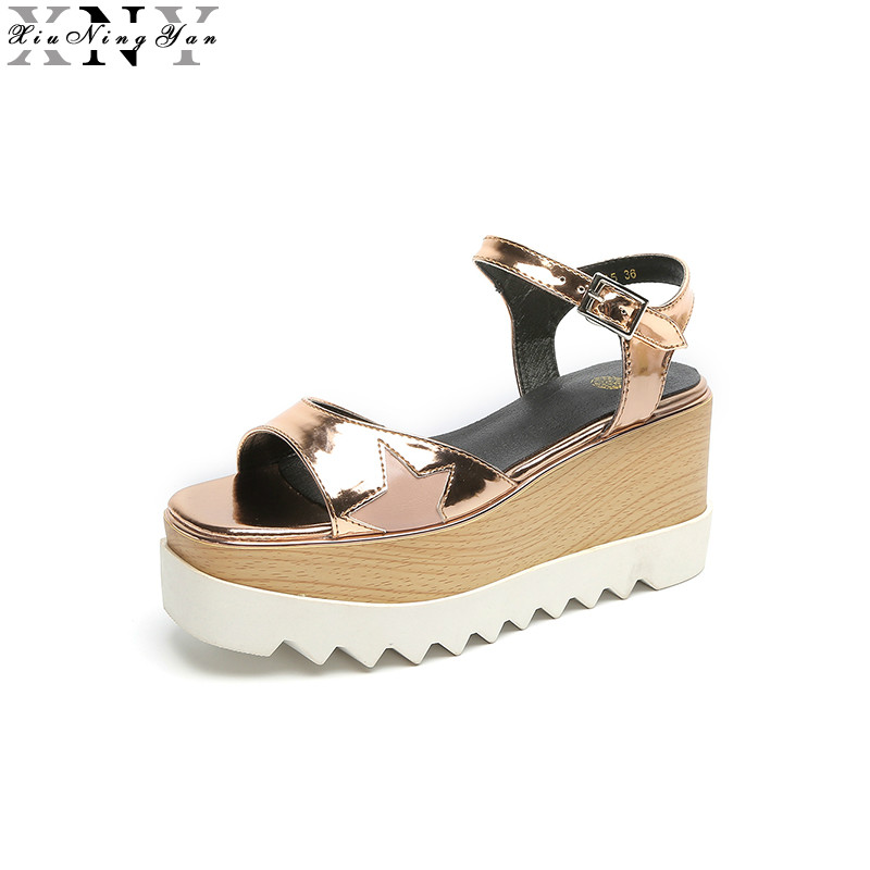 Summer Shoes Woman Platform Classic Sandals Women Soft Leather Casual Open Toe Wedges Women Shoes Flip Flops Zapatos Mujer 3/50 2017 summer shoes woman platform sandals women soft leather casual open toe gladiator wedges trifle mujer women shoes b2792