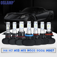 Oslamp 50w Pair H4 H13 Cree CSP Chips Hi Lo Beam Car LED Headlight Bulb 8000lm