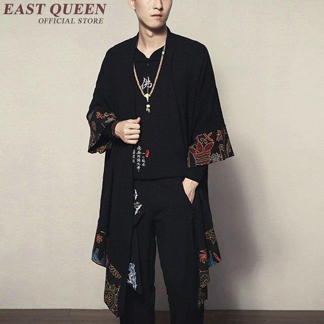 יפני קימונו קרדיגן גברים haori יאקאטה זכר סמוראי תחפושת בגדי קימונו מעיל mens חולצת קימונו יאקאטה haori KK1534