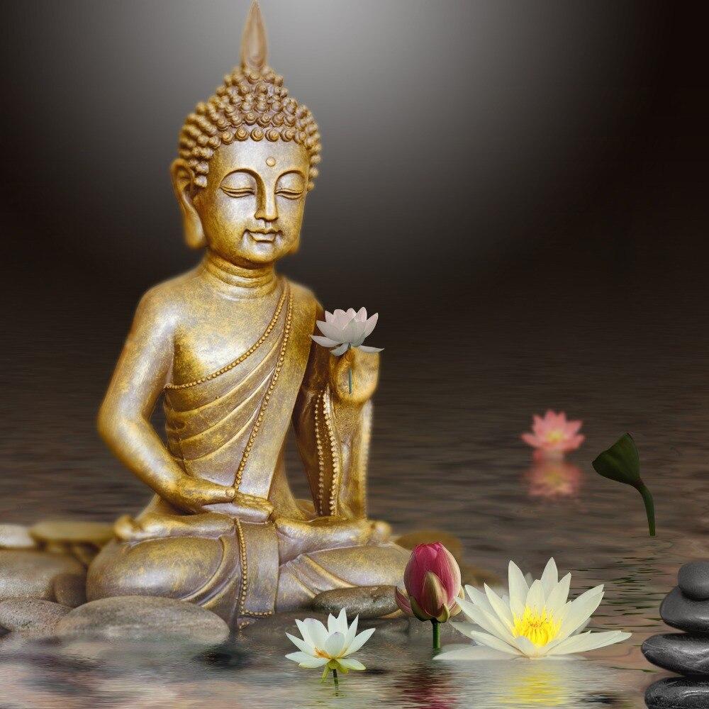 Bricolage diamant mosaïque diamant peinture bouddha lotus point de ...