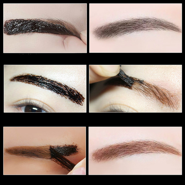 Waterproof Makeup Liquid Eyebrow Gel Peel Off Eye Brow Tint Tattoo Cosmetics Long Lasting Black Brown Eyebrow Paint Make Up 1