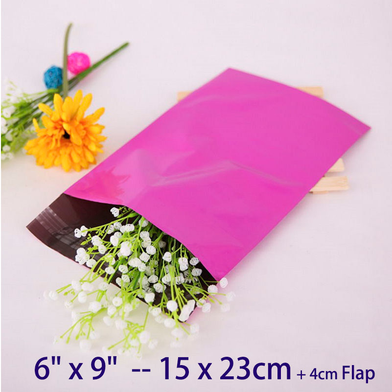 """20pcs 6"""" x 9"""" High Quality Purple Poly Mailer Envelopes Shipping Bag 15x23cm Plastic Mailing Bags Polybag Polymailer(China)"""