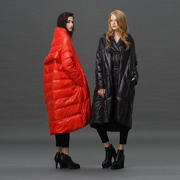 98fe3afa80758d long down jacket women 2016 plus sizes women's quilted jackets long puffer  jacket women down cloak cloaks jacket woman 5xl loose-in Down Coats from  Women's ...