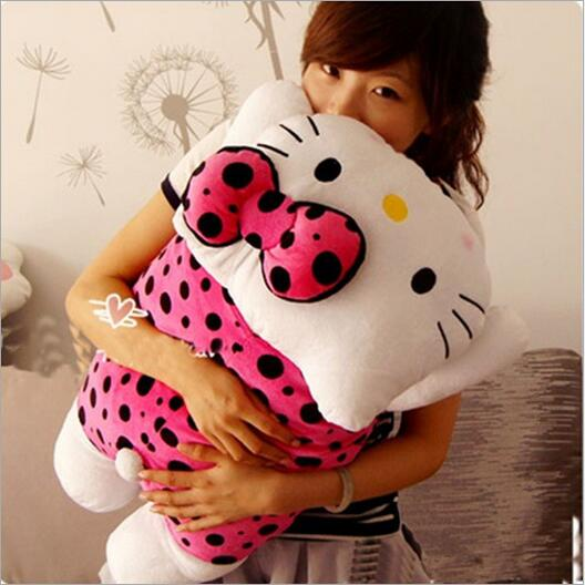 1pcs 35cm Papa Hello Kitty Plush Toys Dolls Pillow Cushion Kawaii Stuffed Cartoon Toys Doll Girls Kids 55cm cute cartoon lilo and stitch warm hand pillow plush toy doll stuffed pillow cushion toys dolls warm hands stitch kids toy