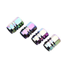 4Pcs Universal Motorbike Valve Cover Colorful Valve Stems for Motorcycle Bike Car Tire Wheel Caps