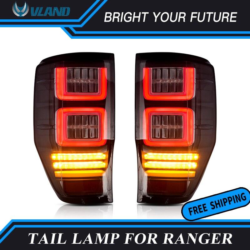 Squential Indicateur Fumé LED Tail Lampe Arrière Lumière De Frein pour Ford Ranger Feux Arrière 2012-2018 T6 T7 Plug jouer