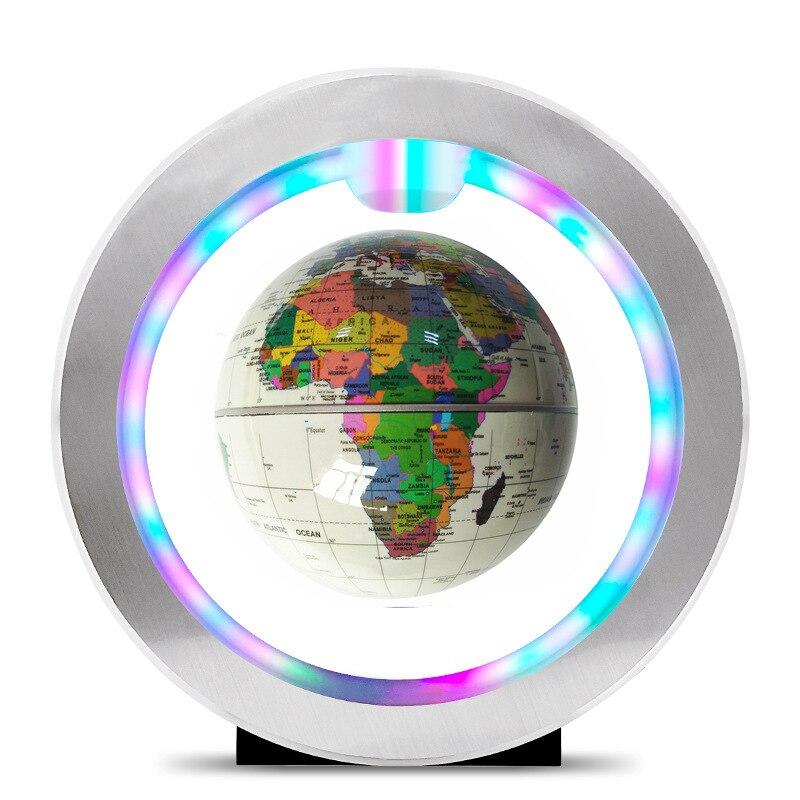 FENGLAIYI Anti-gravité 4 pouces lévitation magnétique flotteur carte du monde enseignement éducation LED veilleuse enfant cadeau maison lampe de bureau