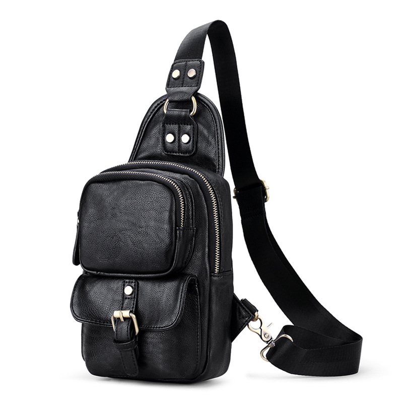 NEW Men Fashion shoulder Crossbody Bag For Men Chest Waist Pack Messenger High Quality PU Leather Men's Chest Bag Shoulder Bags 2017 summer high capacity chest bag for men