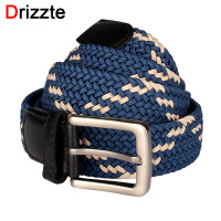 Drizzte Mens Plus Size 130cm 150cm Belts Braided Elastic Waist Web Belts Straps For Men Blue