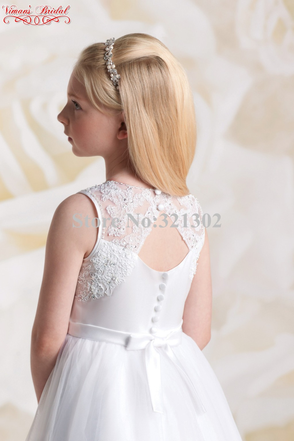 2015 white child bridesmaid dresses appliques lace scoop ball gown 2015 white child bridesmaid dresses appliques lace scoop ball gown ankle length pageant dress with a bow free shipping ak17 in flower girl dresses from ombrellifo Choice Image