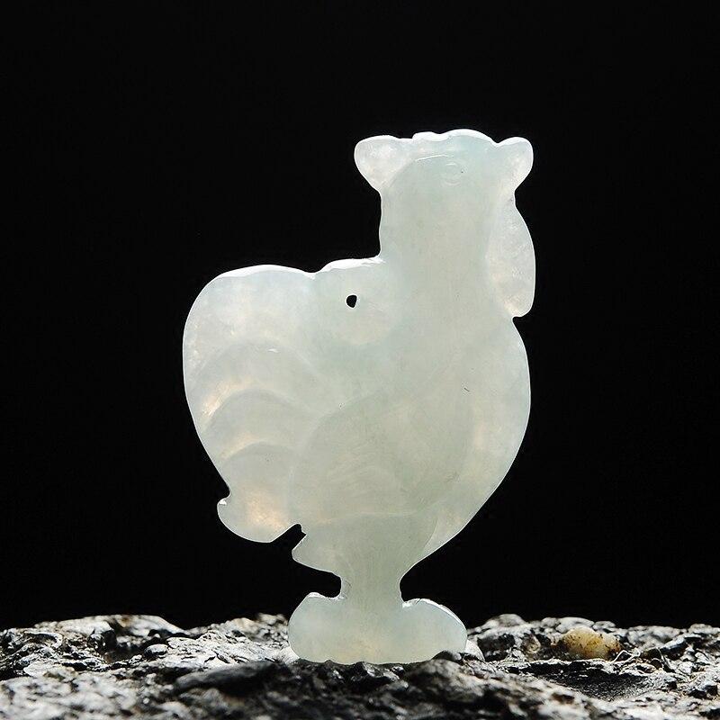 Hot sale Natural A grade chicken Zodiac jadeite pendant 100% real lucky Diy pendant