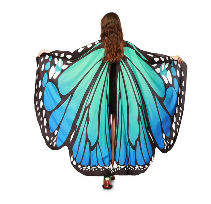 Drop-Shipping-HOT-Women-Butterfly-Wings-Pashmina-Shawl-Scarf-Nymph-Pixie-Poncho-Costume-Accessory (4)