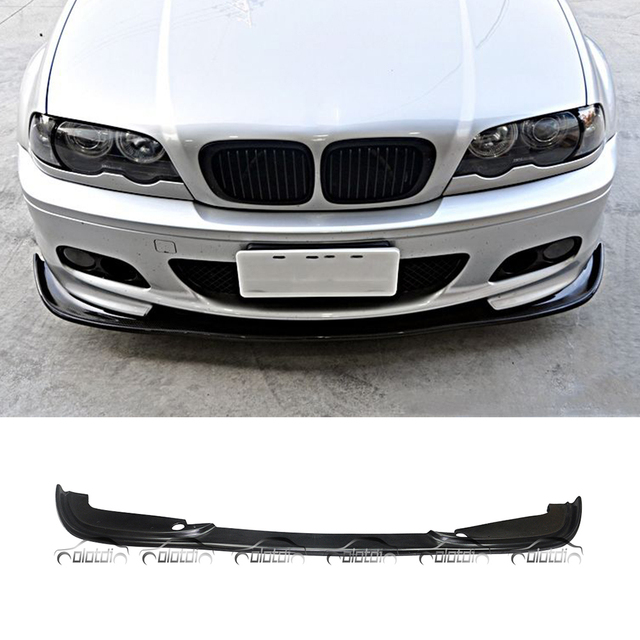 Us 99 0 For H Style Car Styling Pu Material Front Lip Bumper Spoiler For Bmw E46 M Tech M Sport Package Olotdi In Bumpers From Automobiles