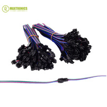 100 Pair 4 Pin JST SM Connector Male to Female JST SM Plug Connector Cable for 5050/3528 RGB LED Strip Light