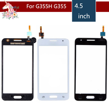 10pcs/lot For Samsung Galaxy Core 2 II SM-G355H G355H G355 G355M Touch Screen Digitizer Sensor Outer Glass Lens Panel Replacemen чехол для для мобильных телефонов oem 1 bling samsung core 2 g355h for samsung galaxy core 2 g355h