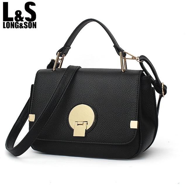 Long Son New Pu Leather Handbag Famous Brand Women Handbags Messenger Bags  Shoulder Bag Ladies Crossbody b908d68c280ca