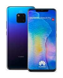 Розетка huawei Matte 20 Pro. Цвет фиолетовый (Сумерки), полоса 4G/LTE/WiFi, Dual SIM, внутренний 128 GB de Memoria, 6 Жесткий GB D