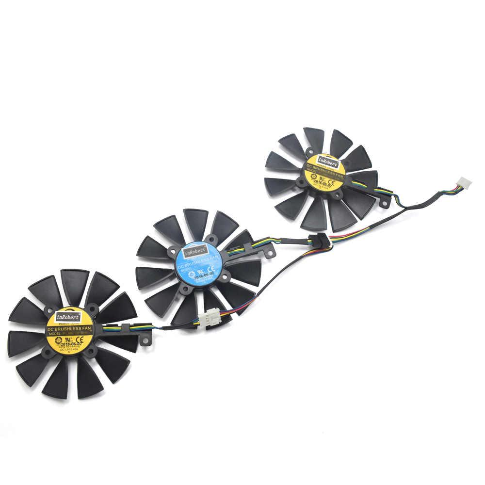 新しい 87 ミリメートル PLD09210S12HH 冷却ファン Asus ストリックスドラゴン GTX 980 Ti GTX 1060 1080 1070 RX 480 580 グラフィックスカードクーラーファン