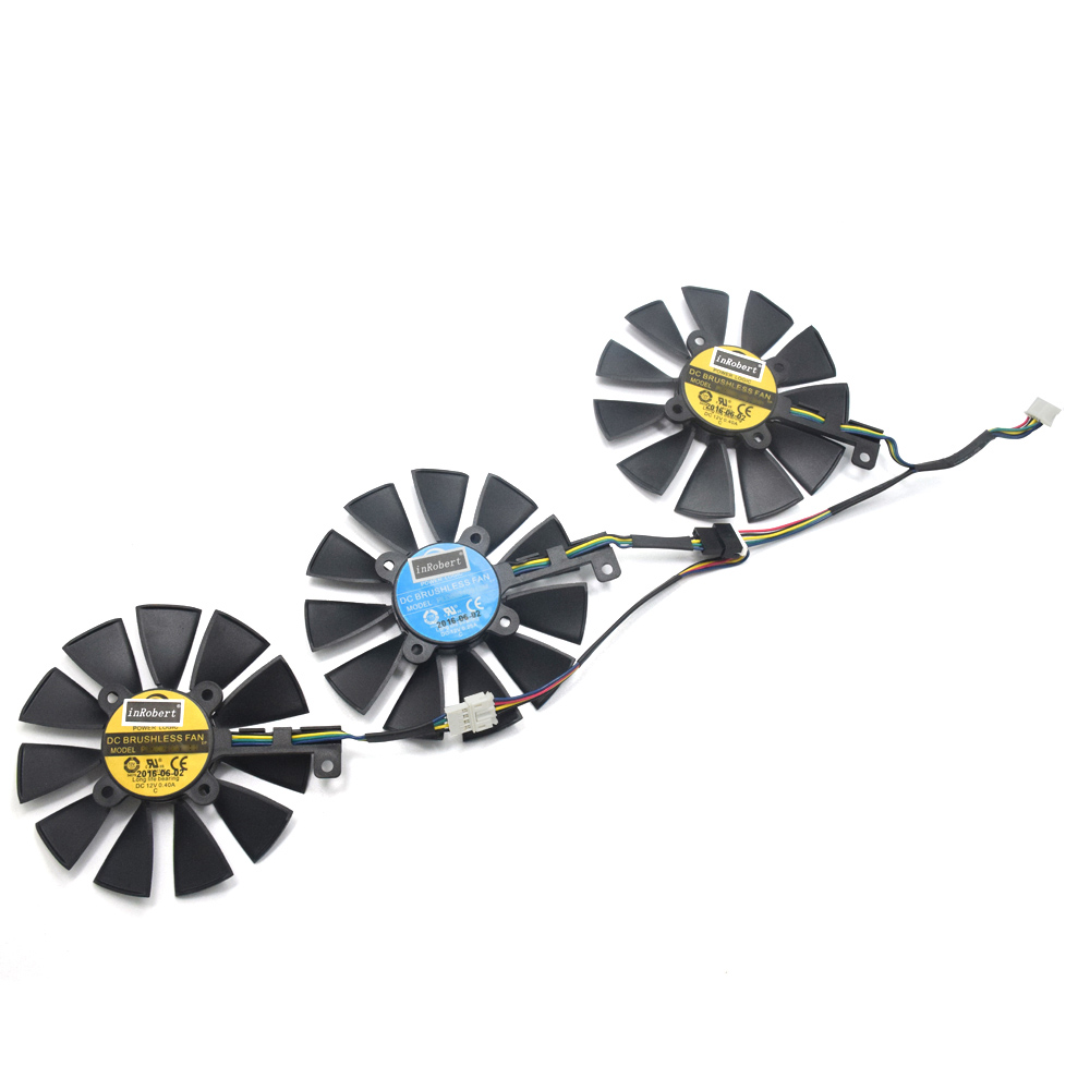 New 87MM PLD09210S12HH Cooling Fan For ASUS Strix DRAGON GTX 980 Ti GTX 1060 1080 1070 RX 480 580 Graphics Card Cooler Fans image