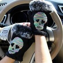 half finger Mittens Female Gloves