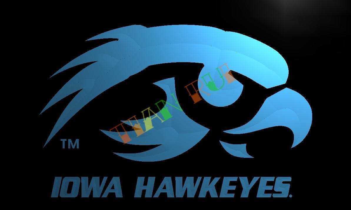 LD519 Iowa Hawkeyes LED Neon Light Sign home decor crafts