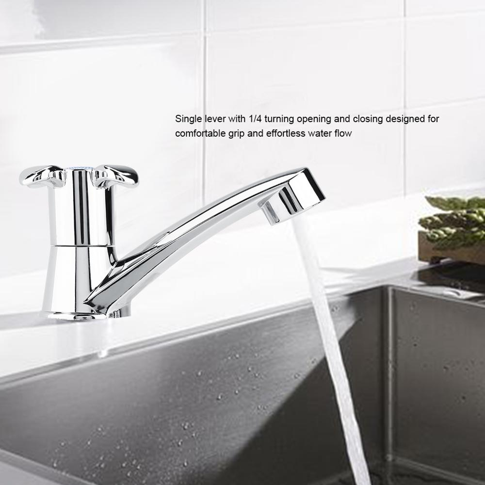 torneira ABS Single Cold Faucet Water Tap Bathroom Basin Kitchen Sink Accessories Modern Single Handle Basin Sink Faucet Tap