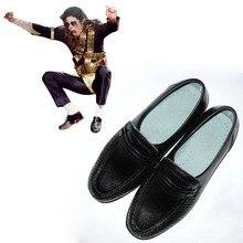 Deluxe Michael Jackson Billie jean Cosplay Shoes Michael Jackson Performance Dance Shoes L0713