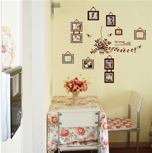 Creative DIY wall stickers for photo frame removable PVC vinyl wall ...