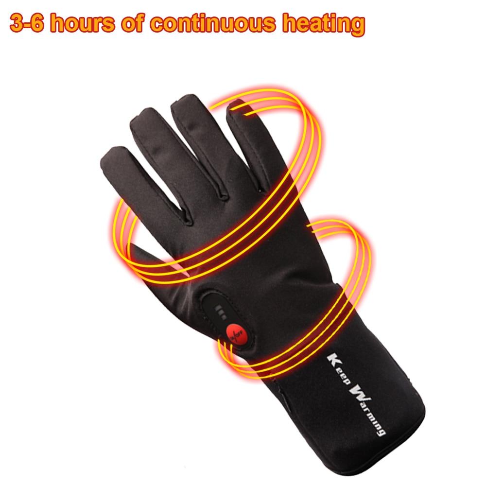 Спаситель Электрический перчатки с подогревом на батарейках Smart управление В 7,4 в теплые Прихватки для мангала Тонкий Зимний Открытый водонепроница